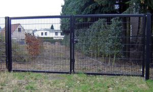 DSM line industrie dubbele poort met overklimbeveiliging
