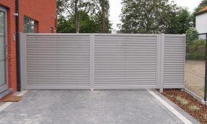 Asterix Aluminium kader met verticale/horizontale latten 60*5mm onder 45° ingelast