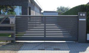 Glenfiddich Aluminium kader met horizontale lamellen 80x20mm met tussenruimte 16mm