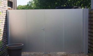 Metropole Aluminium kader met horizontale/verticale opleg aluminium platen dikte 3mm